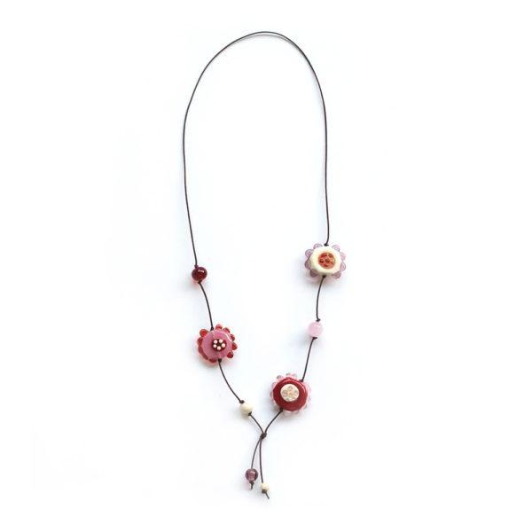 Collier de fleurs roses et rouges pour votre enfant