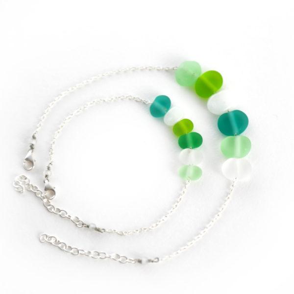 Duo de bracelets couleur bleu et vert