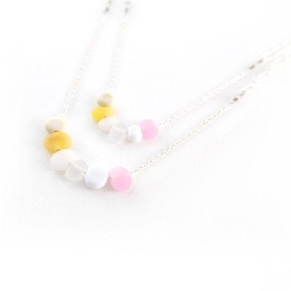 Duo de bracelets en perles de verre toutes douces
