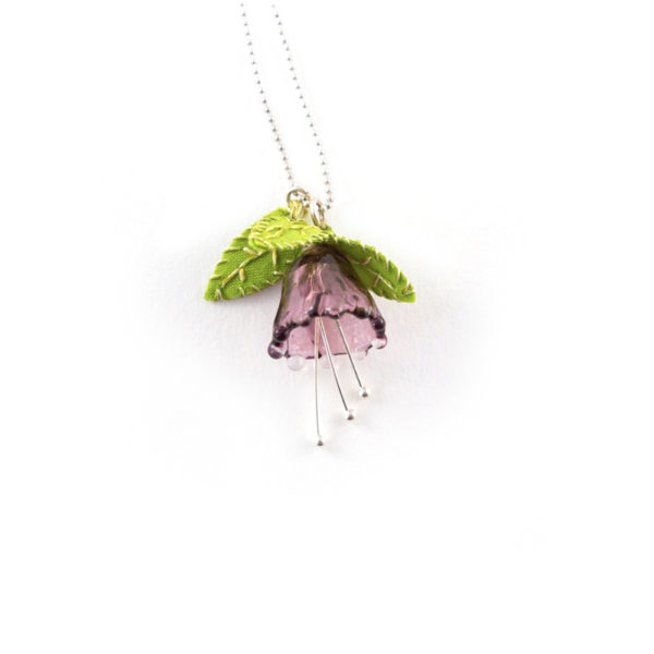 pendentif en verre réalisé à la main par la créatrice Lilas Force