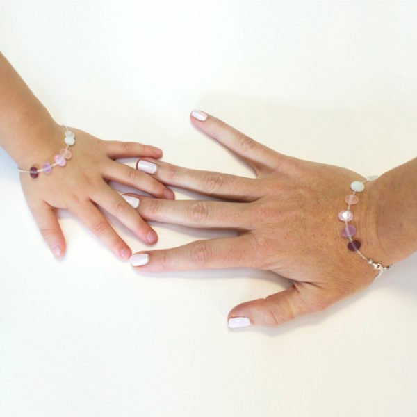 duo de bracelets avec perles en verre artisanale